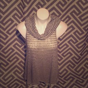 🆕Grey and white striped tank